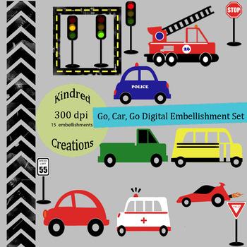 Go Car Go Clip Art Set