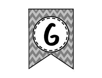 Go Change the World Banner - Bulletin Board - Gray Chevron