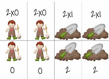 Go Dig!  A 2's Mult. Fact Game