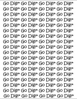 Go Dig Card Game