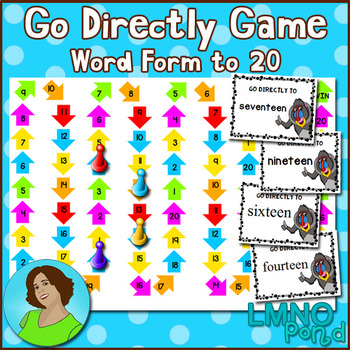 Go Directly Math Game:  Number Words to 20