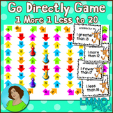 Go Directly Math Game:  Numbers to 20 1 More 1 Less