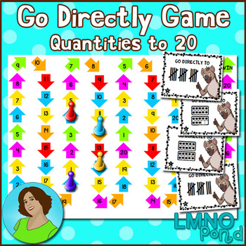 Go Directly Math Game:  Quantities to 20
