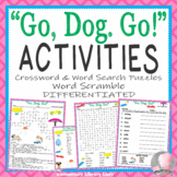 Go Dog Go Activities P. D. Eastman Dr. Seuss Crossword, Word Searches & Scramble