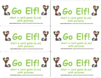 Go Elf:  A Short e Vowel Game (ea) (e)