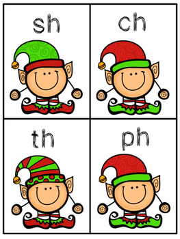Go Elf!  Go Fish-Style Christmas Digraph Word Work Phonics Game