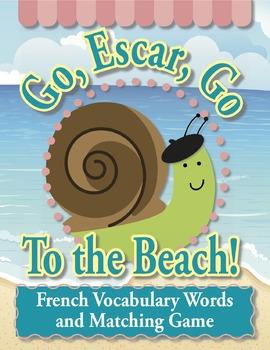 Go, Escar, Go To the Beach!—French Vocabulary Cards and Ma