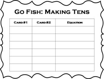 Go Fish: Making Tens {FREEBIE}