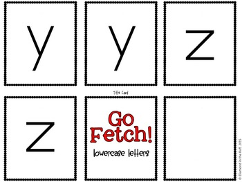 A Letters and Sounds Game: Go Fetch