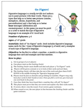 Go Figure! Figurative Language Review Game