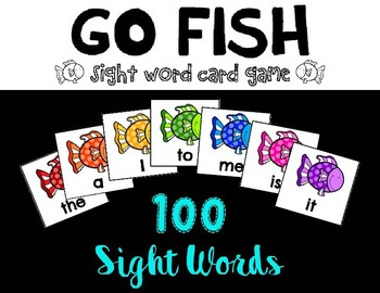 Go Fish 100 Sight Words Card Game