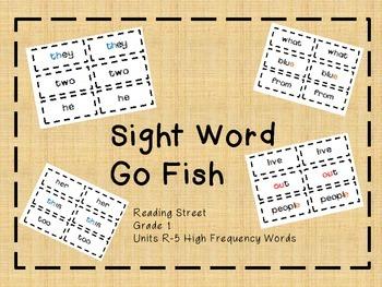 Word Wall  - 1st Grade - Reading Street Sight Words Unit R-5