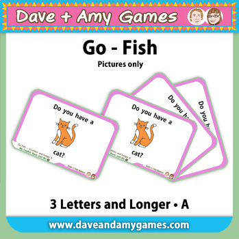 Go Fish/ Memory Match: CVC Phonics A (pictures only)