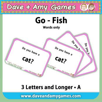 Go Fish/ Memory Match: CVC phonics A (words only)