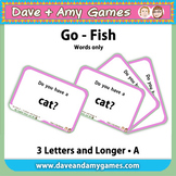 Go Fish/ Memory Match A: CVC phonics (words only)