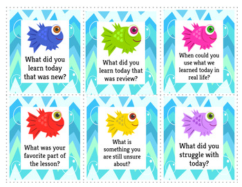 Go Fish Activity- Questions to check for understanding