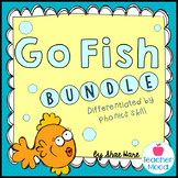 Phonics Game Go Fish BUNDLE Word Work Reading Station Lite