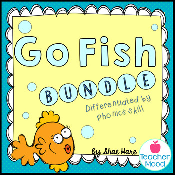 {Go Fish BUNDLE} Word Work [Reading] Station Literacy Center Game
