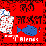Go Fish - Beginning 'L' Blends - (2 different games)