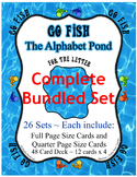 Go Fish Bundled Card Game Set ~ Entire Alphabet ~ 26 letter Sets