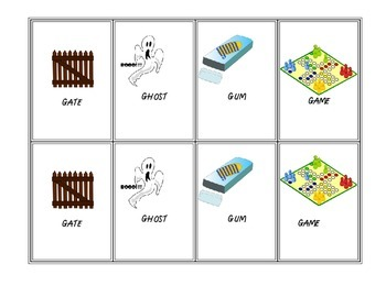 Go Fish Card Deck--28 Pairs for G (Articulation Therapy)