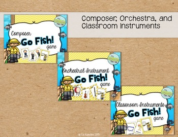 Go Fish! Card Game Bundle: Composers, Orchestra, Classroom Instruments