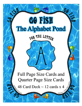 Go Fish Card Game for the Letter A  from the Alphabet Pond :)