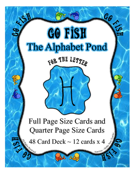 Go Fish Card Game for the Letter H  from the Alphabet Pond :)