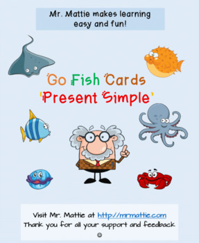 Go Fish Cards Present Simple