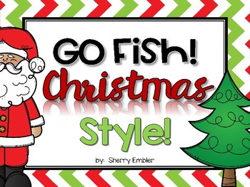 Go Fish!  Christmas Style! Teen Number Games
