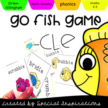 Go Fish Consonant -LE Game