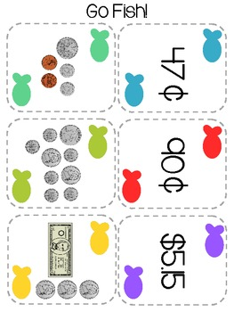 Go Fish - Counting Coins and Bills