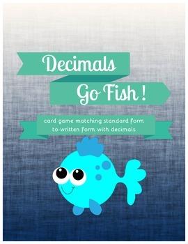 Decimals Go Fish Standard to Written Form {Common Core Aligned}