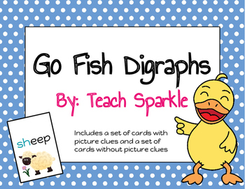 Go Fish Digraphs Word Work Game