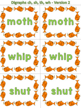 Go Fish - Digraphs (ch, sh, th, wh)