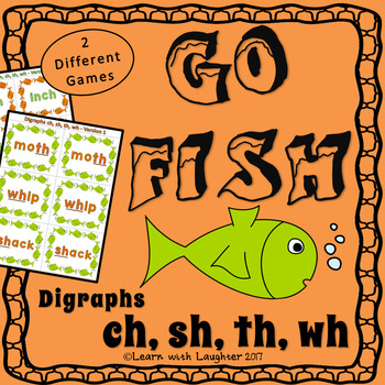 Go Fish - Digraphs (ch, sh, th, wh) - 2 different games