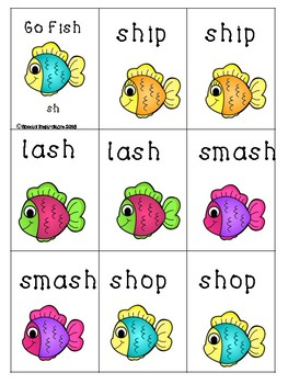 Go Fish Digraphs! (sh, th, wh, ch)