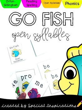 Go Fish Dollar Deal! Open Syllables