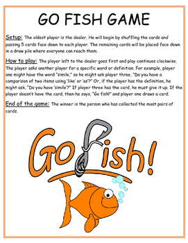 Go Fish English I EOC Reveiw