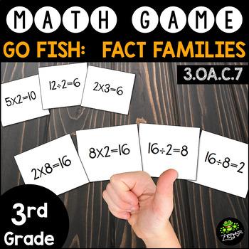Go Fish: Fact Families {Math Game}