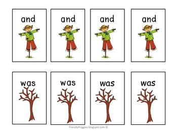 Literacy Centers - Go Fish - Fall Themed Sight Word Games