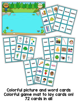 Go Fish - For Digraph sh words Game (beginning and ending sh)