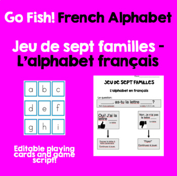 Go Fish! French Alphabet - Playing cards and instruction sheet | LOW PREP
