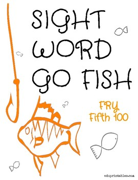 Go Fish! Fry Fifth 100 Sight Word Deck