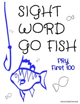 Go Fish! Fry First 100 Sight Word Deck