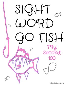 Go Fish! Fry Second 100 Sight Word Deck