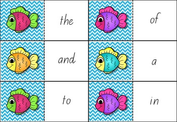 Sight Words Go Fish! Fry Words 1 to 100 Bundle Pack