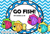 Sight Words Go Fish! Fry Words 21-40