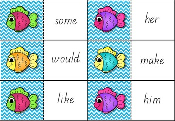 Sight Words Go Fish! Fry Words 61-80