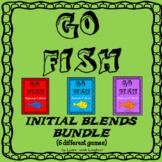 Go Fish Game - Initial Blends (L, R, & S blends) BUNDLE -